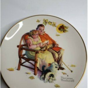 1973 Gorham Norman Rockwell Fall - Fondly Do We Re